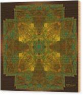 Templar Cross Wood Print