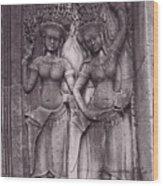 Temple Dancers Wood Print