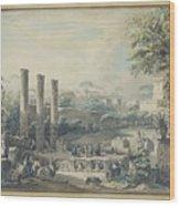 Temple De Serapis Wood Print