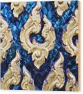 Temple Detail Wood Print