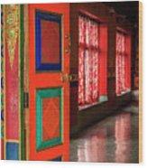 Temple Door Wood Print