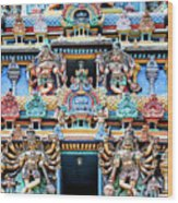 Temple Facade Chennai India Wood Print