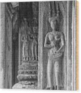 Temple Goddess Wood Print