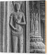 Temple Guardian Wood Print