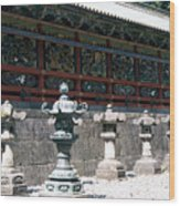 Temple Lanterns  Wood Print