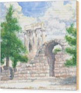 Temple Of Apollo - Corinth Wood Print