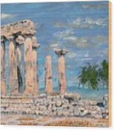 Temple Of Apollo  Wood Print