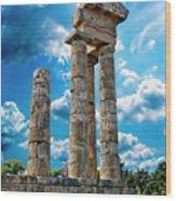 Temple Of Apollon Wood Print