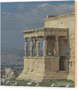Temple Of Athena Wood Print