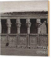 Temple Of Hathor, Early 20th Century Wood Print