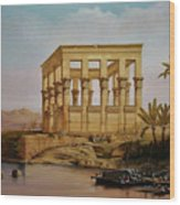 Temple Of Isis On The Nile River Wood Print