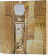 Temple Of Karnak  2 Wood Print