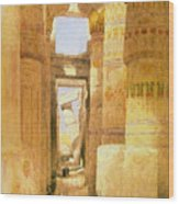 Temple Of Karnak  Wood Print