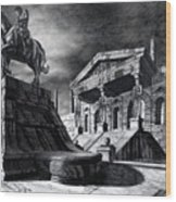 Temple Of Perseus Wood Print