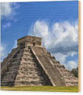 Temple Of The Feathered Serpent Wood Print