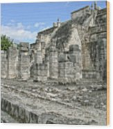 Temple Of The Warriors - Chichen Itza - Mexico Wood Print