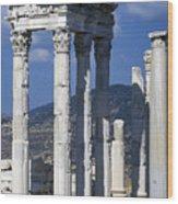 Temple Of Trajan View 1 Wood Print