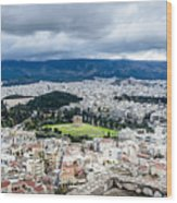 Temple Of Zeus - View From The Acropolis Wood Print