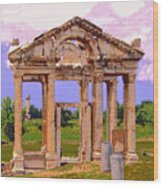 Temple Ruins At Ephesus Wood Print
