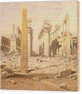 Temple Ruins  Wood Print