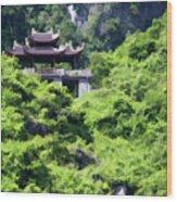 Temple Tam Coc Ninh Binh  Wood Print