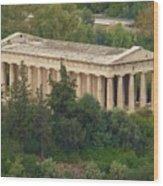 Temple To Zeus Wood Print