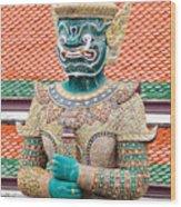 Temple Warrior Wood Print
