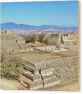 Temples In Monte Alban Wood Print