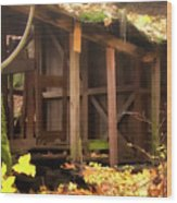 Temporary Shelter Wood Print