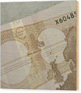 Ten Euro Note Wood Print