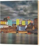 Tenby Harbour Pembrokeshire Wood Print