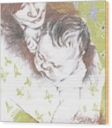 Tenderness In Green Wood Print