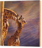 Tenderness Painted Wood Print
