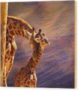 Tenderness Painted Wood Print