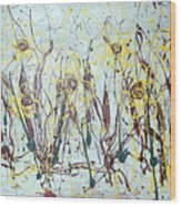 Tending My Garden Wood Print