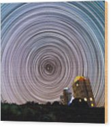 Tenerife Star Trails Wood Print