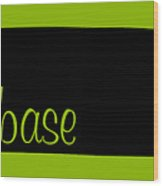Tennessee Is Home Base Black Wood Print