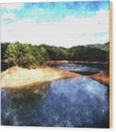 Tennessee Reservoir Wood Print