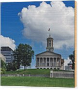 Tennessee State Capitol Nashville Wood Print