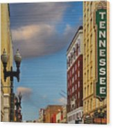 Tennessee Theatre Wood Print by Steven Michael
