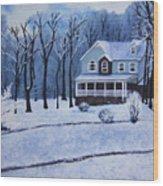 Tennessee Winter In The Smokies Wood Print