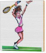 Tennis Ace Wood Print