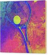 Tennis Art Version 1 Wood Print