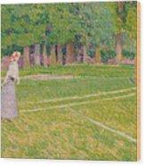 Tennis At Hertingfordbury Wood Print by Spencer Frederick Gore