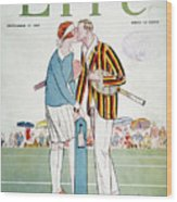 Tennis Court Romance, 1925 Wood Print