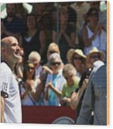 Tennis Legend Wood Print