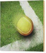 Tennis Point Wood Print