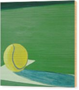 Tennis Reflections Wood Print