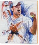 Tennis Snapshot Wood Print by Ken Meyer jr
