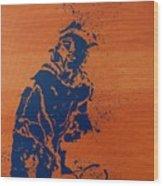 Tennis Splatter Wood Print
